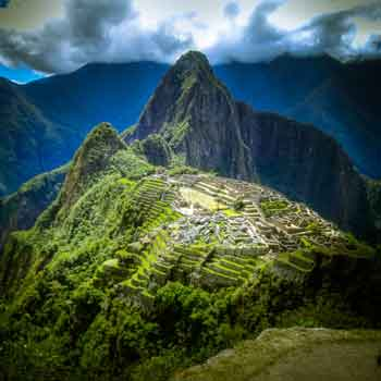 Sacred ancient city of Machu Picchu, Peru